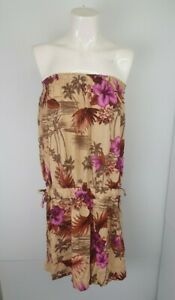 Sundrenched Australia Tropical Strapless  Playsuit Romper  Sz 2XL