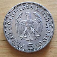Germany 1936 A 5 Reichsmark, KM-86, XF (#g22)