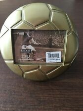 "Burns Of Boston Brushed Brass Soccer Ball 5"" X 3 1/2""  Picture Frame NIB Rare"