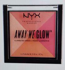 NYX AWAY WE GLOW ILLUMINATING POWDER/CRUSHED ROSE - ROSY PEACH TONES/AWGIP04