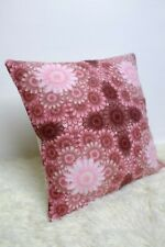 "Retro Cushion Cover 16x16"" Amazing Original 60s/70s Fabric Vintage Boho Floral"