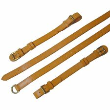 Porsche 911 Interior Luggage Straps London Tan Leather Polished Brass Hardware