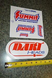 ★90S Summit Racing Equipment / Dart Heads Decal Sticker ORIGINAL LOGOS AUTO SHOW