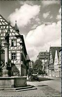 Ansichtskarte Forchheim (Oberfranken) Kriegerbrunnen Buchhandlung Streit 1963