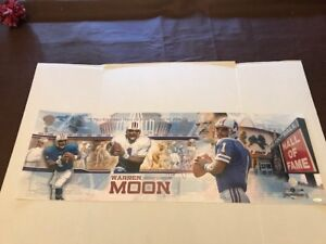 Warren Moon Signed Limited Edition Photoramic Photo Houston Oilers 7/250 TriStar