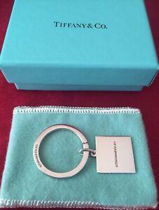 Tiffany & Co. Sterling Silver American Express Key Ring w/ Original Box & Pouch.