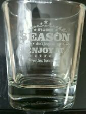 Jack Daniels It's A Short Season Don't Forget To Enjoy It Collector Rocks Glass