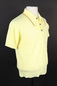 Vintage 60s TOWNCRAFT Acrylic Golf Polo Shirt Mens Size Medium