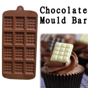 Chocolate Mould Bar Break Apart Choc Block Ice Tray Silicone Cake Bake Cook Mold