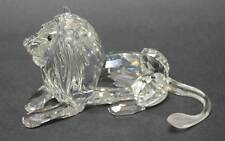 Swarovski Clear Crystal Lion Amber Solid Glass Eyes Mane African Collection