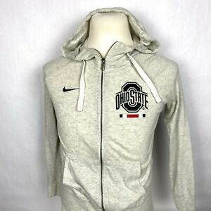 Nike Youth Small Ohio State Hoodie Gray Pockets Zipper