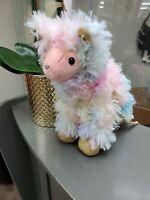 Olly & Me Flip Sequin  Lama  Purse Girls Pink Plush Stuffed Animal Hand Bag NEW