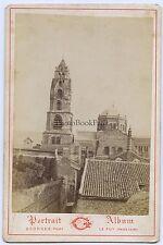 Photo Georges Le Puy France Eglise carte cabinet Vintage albumine ca 1880