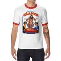 Let's Have a Seance Funny Men's Ringer Cotton T-shirt Short Sleeve Summer Tops