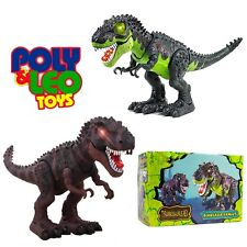 Light Up T-Rex Walking Dinosaur Kids LED Toy Action Figure Gifts For kids
