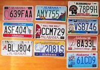 BULK LOT of 10 Alabama GRAPHIC License Plates HIGH QUALITY