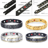 MENS TITANIUM SUPER STRONG MAGNETIC THERAPY BRACELET BIO HEALING ARTHRITIS COOL