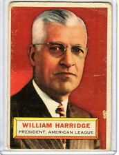1956 Topps William Harridge # 1 Good