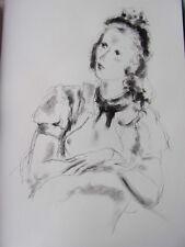 """DIGNIMONT / LITHOGRAPHIE signée """" Simone """"  38x28 1946"""
