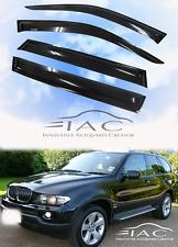 For BMW X5 E70 07-13 With Sliver LOGO Window Visor Vent Shade Guard Door Visor