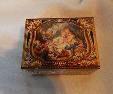 Vintage Kemps biscuits Antique Casket tin modelled on antique snuff box in V&A.2