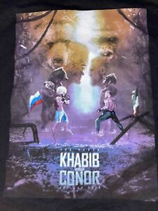 Reebok UFC Khabib Vs Conor McGregor Black Graphic Fight T Shirt Mens 2XL