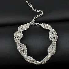 Women Elegant Bling Crystal Rhinestone Infinity Bracelet Bangle Jewelry Fashion