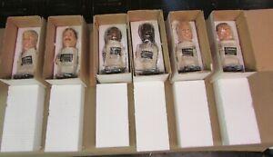 6 Dallas Cowboys Bobblehead Set Pepsi Randy White Bob Lilly Tony Dorsett Moose