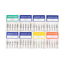 Set 40 Punte Diamantate kit Fresino Angolare Gambo 1,6 mm Varie Grane e Forme
