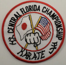 Martial Arts Embroidered Sew On Uniform Patch Central Florida Championship Karat