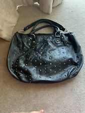Black & Gold Stud Shopper Style Shoulder Handbag - New Look