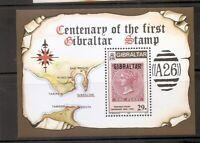 Gibraltar, Scott # 490 Centenary Of The First Gibraltar Stamp. MNH