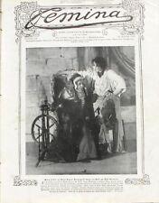 Femina n°168 - 1908 - La Mode et les Modes- Le Jeu de l'écharpe - Mme M. Donnay