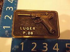 Vintage Belt Buckle Solid Brass LUGER P.08 A DEZY 1975