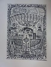 "Original Unique Linocut ""Lithuania. Inspired by Maironis"" Print by Famous Artist"