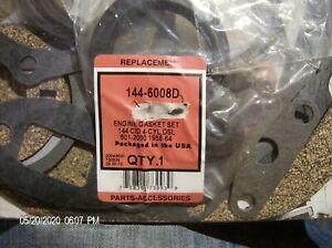 144-6008D COMPLETE ENGINE OVERHAUL GASKET KIT FORD 501-2000 MANY MODELS