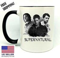 Supernatural, Birthday, Christmas Gift, Black Mug 11 oz, Coffee/Tea