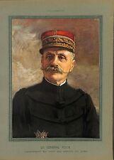 WWI Portrait Couleur Général Ferdinand Foch Maréchal de France B ILLUSTRATION