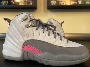 Nike Air Jordan Retro 12 (XII) Boys Girls size 6.5Y Vivid Pink Wolf Grey Bulls