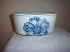 Saladier Porcelaine Limoges décor vintage fleur bleu post 60