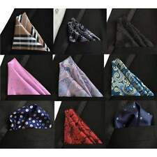 Mens 100% Silk Paisley Polka Pocket square hanky wedding Floral Handkerchief