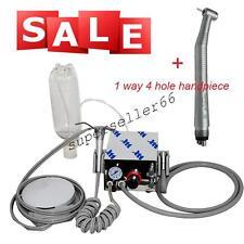 Dental Portable Turbine Unit Air Compressor 4 HOLE + high speed 1W 4H handpiece