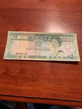 Fiji Islands 2 Dollars P87 1988 Queen Train Sugar Cane Au World Money Bank Note
