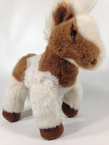 "Dakin Pinto Plush Pony Stuffed Animal Brown White Mustang Horse 12"" Toy 1994"