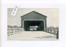Sheffield MA Mass RPPC real photo, old cars covered bridge, Ray Applegate repro?