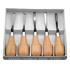 Professional Wood Carving Hand Chisels Tools 5pcs Set Woodworking Lathe Gouges