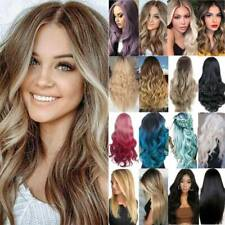 Women's Real Curly/Straight Long Hair Wigs Fancy Party Cosplay Wavy Full Wig AU