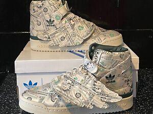 "Adidas x Jeremy Scott Forum Wings 1.0 ""Money"" - Size 9"