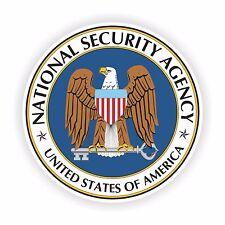 NSA Seal Sticker for Locker Hard Hat Laptop Tablet Fridge Car Bumper