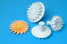 Genuine PME Veined Sunflower, Gerbera & Daisy Sugarcraft Plunger Cutters FAST